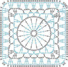 Transcendent Crochet a Solid Granny Square Ideas. Inconceivable Crochet a Solid Granny Square Ideas. Crochet Motif Patterns, Crochet Blocks, Crochet Diagram, Crochet Chart, Crochet Squares, Crochet Granny, Crochet Stitches, Knit Crochet, Motifs Granny Square