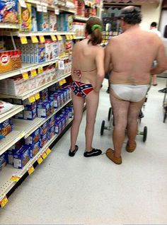 Walmart, way to wear that rebel flag!! On the list of what to wear to the store is not funny underwear, hilarious swimsuits, nor offenses butt covers.