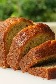 Banana Banana Bread - This banana bread is moist and delicious with loads of banana flavor!
