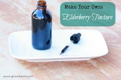 Elderberry Tincture | Elderberries are known for fighting the influenza virus, H1N1, helping keep the immune system functioning properly, and many other things. Elderberries are high in vitamin C, and contain a moderate amount of vitamin A, vitamin B6, and iron. They are also a mild anti-inflammatory. Making elderberry tincture is really easy. | GNOWFGLINS.com