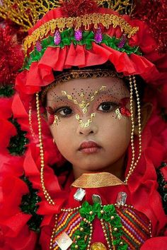 Beautiful costumed girl from East Java, Indonesia.