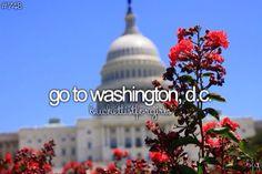 Go to Washington, D.C. ✅