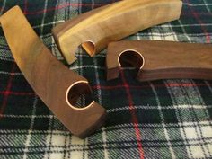 Perfect stocking stuffer! These walnut bottle openers have a near parallel downward curve to fit very nicely in your hand. 7/8 wide and 5 3/4 long gives you a firm grip when opening your beverage and it looks a lot better than a nail on the end of a stick. Each opener has its