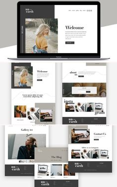 The Unearth Squarespace Template Kit is a modern and artistic website template with an interactive and highly customizable collage style layout, perfect for all Website Layout, Design Thinking, Design Sites, Clean Web Design, Design Web, Custom Website, Newsletter Design, Website Design Inspiration, Layout Design