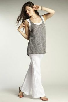 Womens organic cotton and tencel knit Swing Tank. Fair trade ethical fashion from INDIGENOUS.