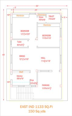 2 BHK floor plans of 2bhk House Plan, Model House Plan, Simple House Plans, House Layout Plans, Duplex House Plans, House Floor Plans, 30x40 House Plans, 2 Bedroom House Plans, The Plan