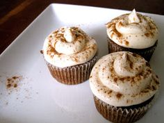 Persimmon Cupcakes with Ginger-Vanilla Buttercream Frosting