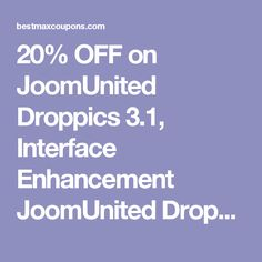 20% OFF on JoomUnited Droppics 3.1, Interface Enhancement  JoomUnited Droppics Coupon 2017    http://bestmaxcoupons.com/store/joomunited-coupon-codes/