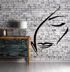 Beautiful Sexy Woman Face Outline Decor Wall Art Mural Vinyl Decal Sticker M465