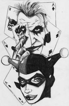 joker and harley quinn scan by darkartistdomain.deviantart.com on @DeviantArt