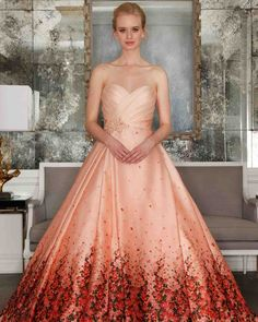 85 best colorful wedding dresses images on pinterest 43 romantic floral wedding dresses martha stewart weddings any bride is sure stand out junglespirit Images