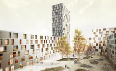 Die Architecten Cie competition entry, perimeter block courtyard housing
