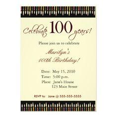100th Birthday Invitation Wording 100th Birthday Party Invitations