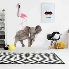 £d wall stickers and animal heads
