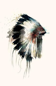 Art and illustration Art And Illustration, Animal Illustrations, Watercolour Tattoos, Watercolor Art, Inspiration Art, Native Art, Native Indian, Blackfoot Indian, Watercolor Paintings