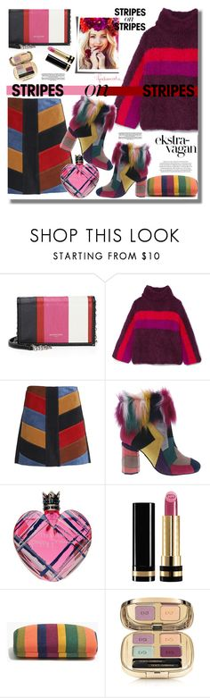 """""""Pattern Challenge: Stripes on Stripes"""" by pesanjsp ❤ liked on Polyvore featuring Balenciaga, Rosie Assoulin, M.i.h Jeans, Penny Loves Kenny, Vera Wang, Gucci, Rica, Madewell, Dolce&Gabbana and stripesonstripes"""