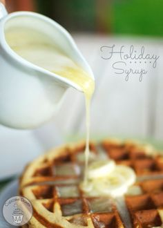 Holiday Syrup from CupcakeDiariesBlog.com - This syrup is sooooo yummy on french toast, waffles, and pancakes! I could drink it from a glass if nobody was looking. #holidaysyrup #homemadesyrup #breakfast