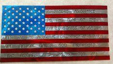 American flag with Pledge of Allegiance. Pledge Of Allegiance, Allegiant, Horseshoes, Black Letter, American Flag, Flags, Powder, Stripes, Letters