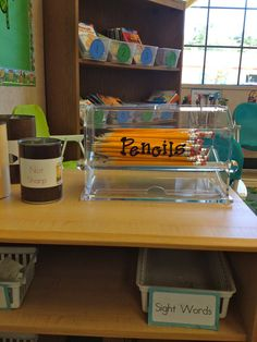 Pencils in a straw dispenser ... brilliant!      A Teeny Tiny Teacher: First Day of School