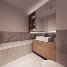 Wooden drawers in the bathroom