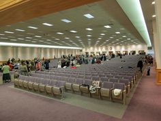Front view of seating early in the morning by Counselman Collection, via Flickr--Lansing Michigan Fall two-day assembly  ew13113