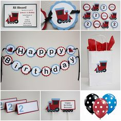 Train Birthday theme party decor #YoYoBirthday