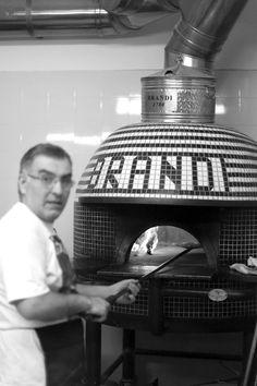 Authentic Brandi wood-burning pizza oven! #Italy