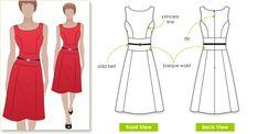 Style Arc Janet Dress - soft linen