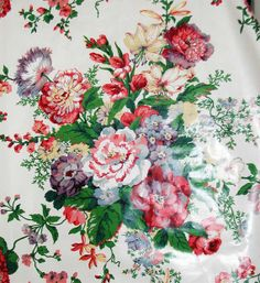 Mario Buatta Multicolor Floral Chintz Fabric From Early 90s - 9 Yards Available