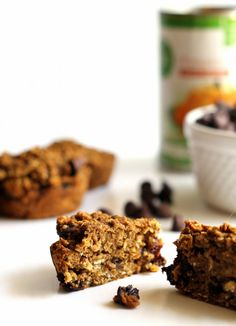 These vegan and gluten-free pumpkin chocolate chip muffins are a hearty, healthy and delicious fall snack.