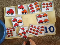File folder cars matching game! <3 <3 (my 2 year old nephew loves it!)
