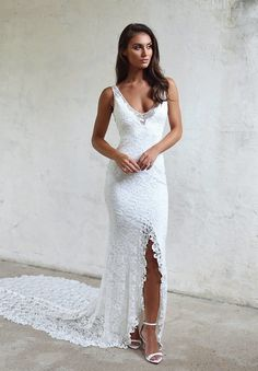 1d5aef52a76e1 G I A by Grace Loves Lace. Slit Wedding DressLace Wedding Dress With SleevesBridal  DressesUsed ...