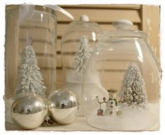 Winter Scene under Glass