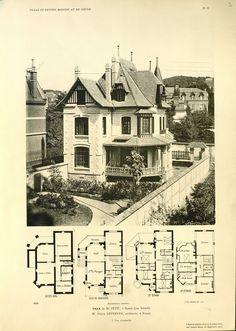 Villa rue Senard, ROUEN, Architecte P.Lefebvre.