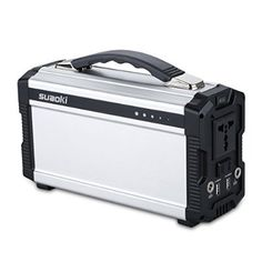 Suaoki Portable Generator Gas-free Quietly Solar or DC 12V Operated with Power Inverter Outputs AC 100V/110V/50Hz(Max 220Wh) USB 1A DC 12V/5A Built-in Battery Capacity 220Wh,20Ah