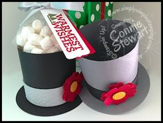Frosty the Snowman Hat Box - video tutorial available at www.SimplySimpleStamping.com