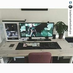 #Repost @trademarkedsetups with @repostapp Amazingly beautiful setup. I love the setups wooden look and the ultrawide monitor. The setup is really clean :) ------------------- Follow for more awesome content ------------------- Let's reach 3000 before Feb 1. ------------------- #setup #dreamsetup #workstation #battlestation #workspace #pcgaming #deskspace #desksetup #gaming #game #gamer #gamingsetup #pc #pcmasterrace #computer #technology #clean #pcgaming101 #interior #interiordesign…