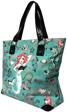 New Fluff Molly Mermaid Tote Bag on Modern Grease 59d003ccd61bd