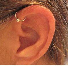 "No Piercing Handmade Ear Cuff Helix Cuff ""Captive Ball"" 1 Cuff Color Choices von ArianrhodWolfchild auf Etsy https://www.etsy.com/de/listing/100722089/no-piercing-handmade-ear-cuff-helix-cuff"