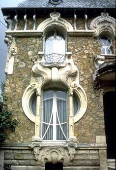 Photos Blend of Architecture with Art Nouveau. At this time it was a revolutionary movement where there was a strict barrier between pure art and art. Art Nouveau focuses more on the concept of und… Architecture Art Nouveau, Architecture Cool, Landscape Architecture, Landscape Design, Art Deco, Art Nouveau Design, Belle Epoque, Art Nouveau Arquitectura, Photo Blend