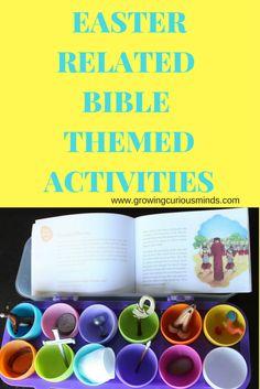 Easter Day Biblical Themed Activities www.growingcuriousminds.com