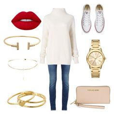 """""""........"""" by gustavia5347 ❤ liked on Polyvore featuring Diane Von Furstenberg, Michael Kors, Gorjana, Converse and Lime Crime"""
