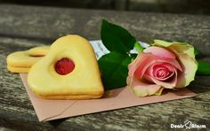 Free Image on Pixabay - Biscuit, Heart, Rose, Love