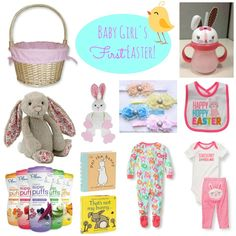 20 ideas for babys easter basket easter basket baby spring girls first easter basket baby girls first easter basket ideas with links for purchasing negle