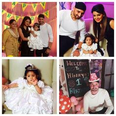 Harbhajan Singh & Geeta Basra celebrated the first birthday of their princess Hinaya Heer For more cricket fun and updates click http://ift.tt/2gY9BIZ - http://ift.tt/1ZZ3e4d