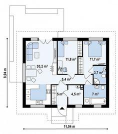 Проект компактного квадратного в плане дома  S3-79 (Z308). План 1. Shop-project