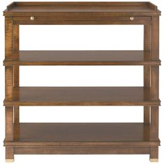 Hickory White Bedside Table 425-73