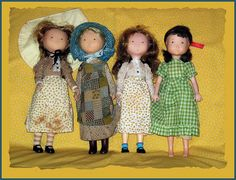 Holly Hobbie Dolls - I had the green check one, and I think the one in the blue hat. I also thought I had an 'orange' doll - (I forgot their names) Antique Dolls, Vintage Dolls, Sarah Kay, Holly Hobbie, American Greetings, Kewpie, Old Love, Raggedy Ann, My Childhood Memories
