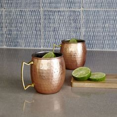 jcp | Towle® Set of 2 Hammered Copper-Plated Moscow Mule Mugs