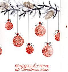 Cardio christmas Bauble card made using my card-io stamps